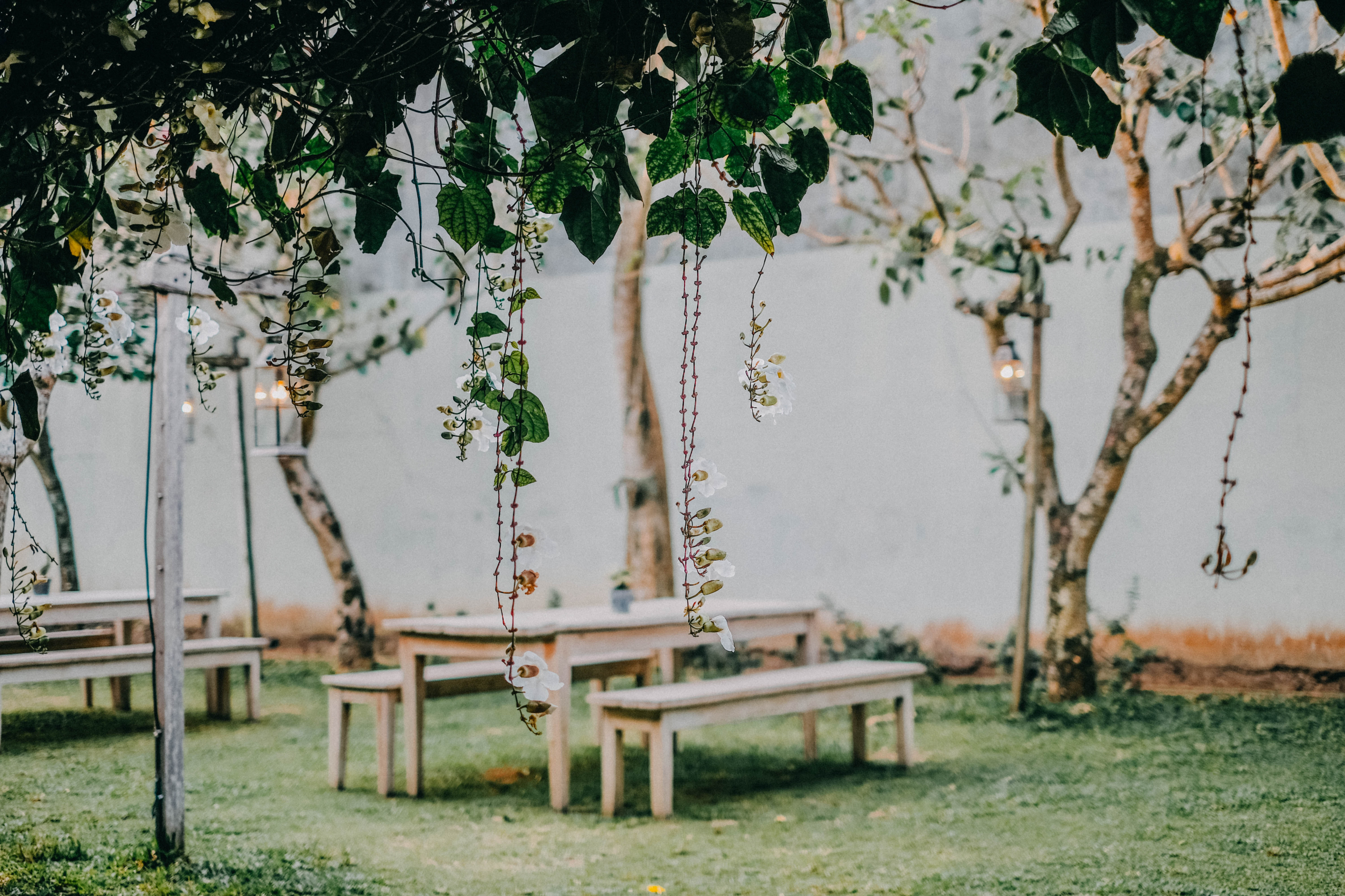 brown-wooden-picnic-table-near-body-of-water-1416572